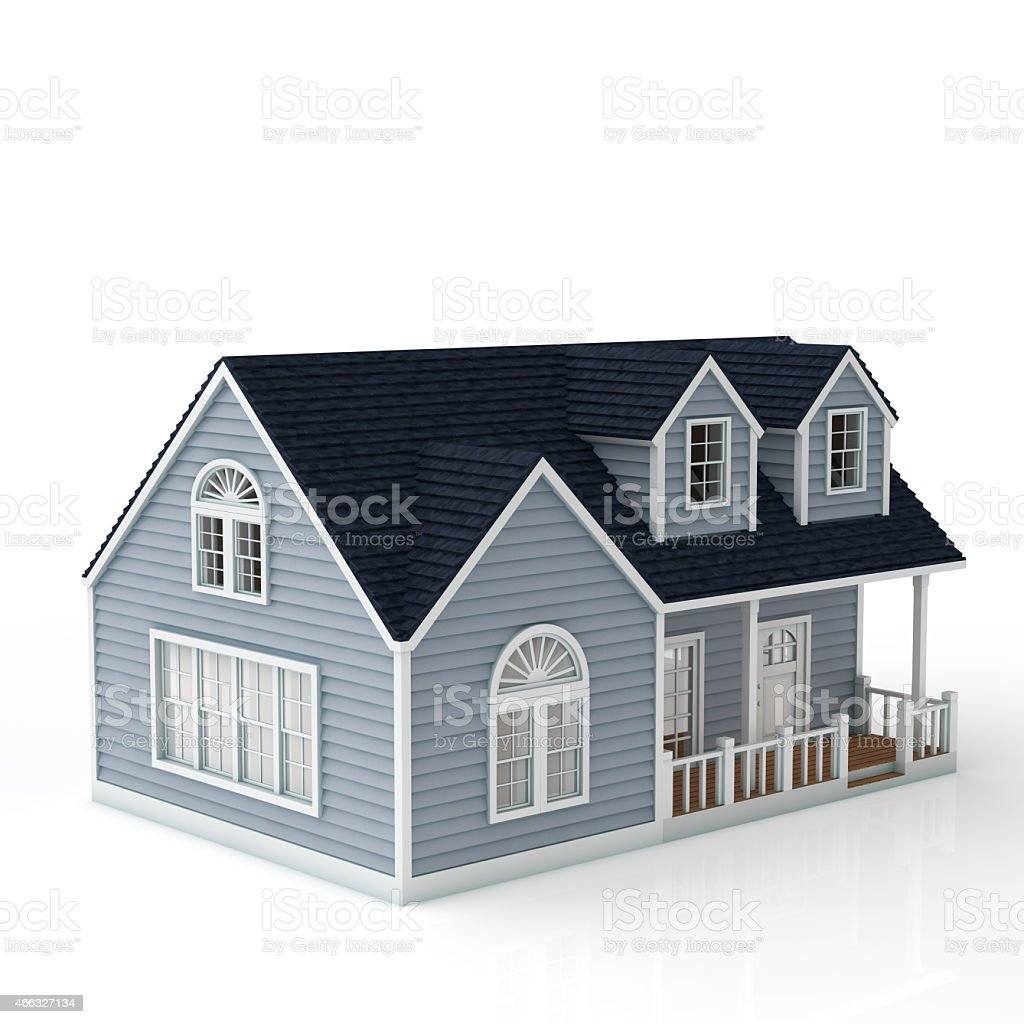 The house on white background stock photo