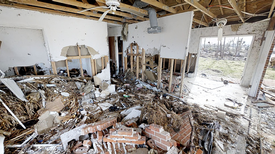 istock The house was devastated by a hurricane 1145920877