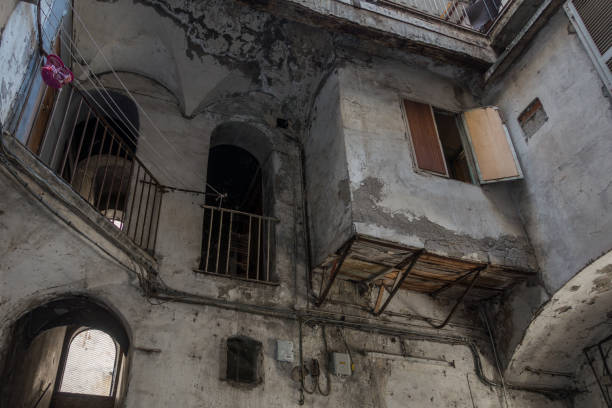 The house where was born the famous Italian actor Totò at Rione Sanità in Naples, Italy stock photo
