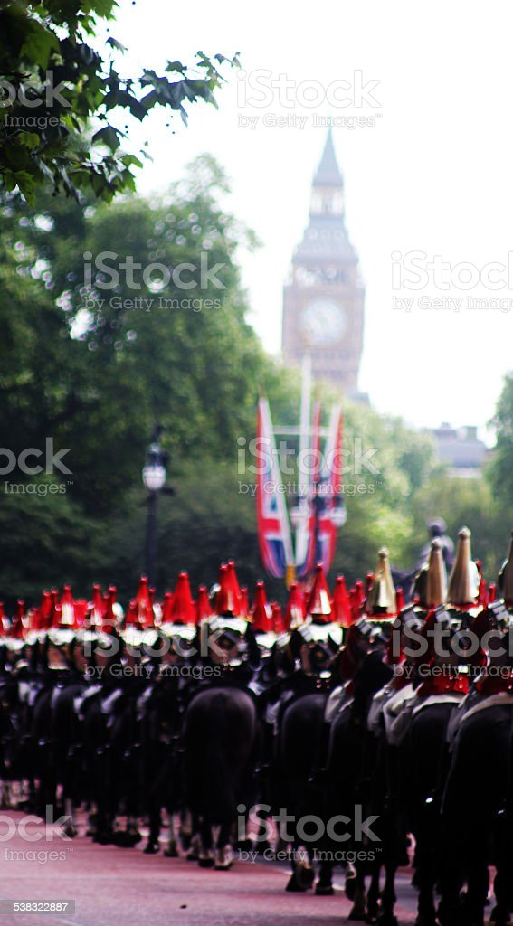 The Household cavalry stock photo