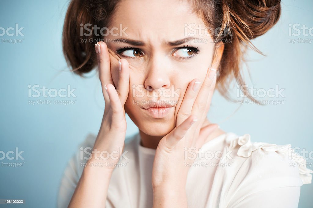 the housewife listens to gossips stock photo