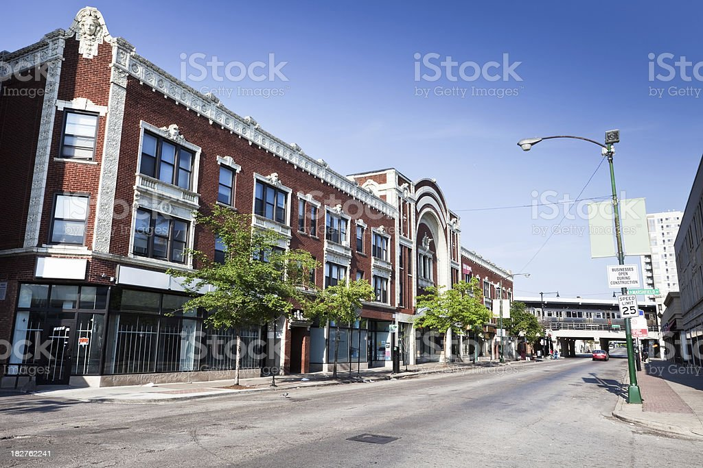 The Howard Theatre in Rogers Park, Chicago royalty-free stock photo