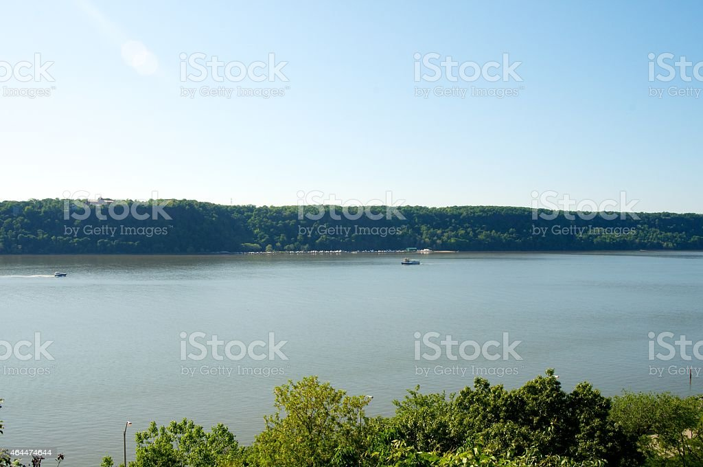 The Hudson River From NYC stock photo