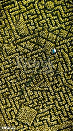 istock The huge Halloween's Corn Maze in Pennsylvania, Poconos Region 858091232