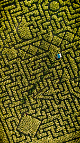 istock The huge Halloween's Corn Maze in Pennsylvania, Poconos Region 858091232