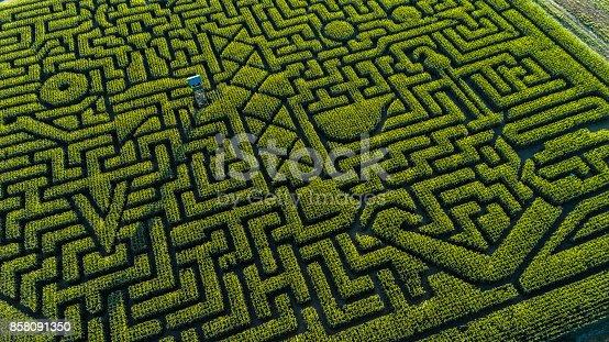 istock The huge Halloween's Corn Maze in Pennsylvania, Poconos Region 858091350