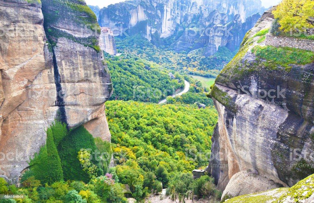 les énormes rochers de Meteora Kalabaka Grèce photo libre de droits