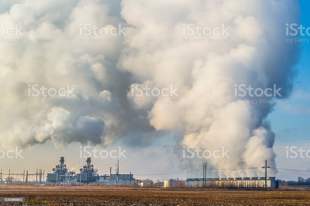 The Huge Scale of Man's Impact on Climate Change stock photo