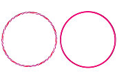 The hula Hoop pink  isolated on white background