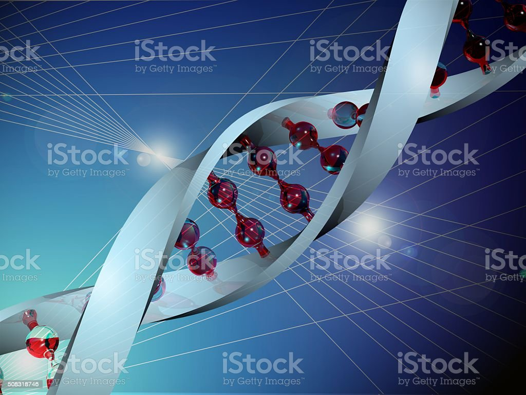 The human genes DNA stock photo