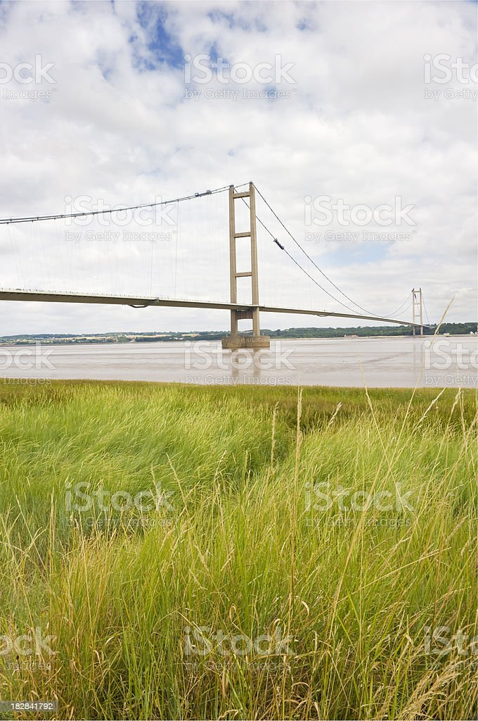 The Humber Bridge royalty-free stock photo