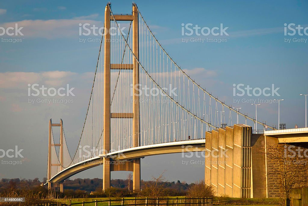 The Humber Bridge stock photo