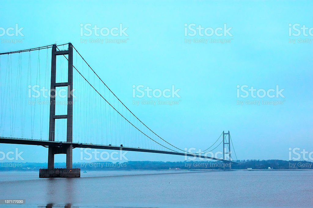 The Humber Suspension Bridge royalty-free stock photo