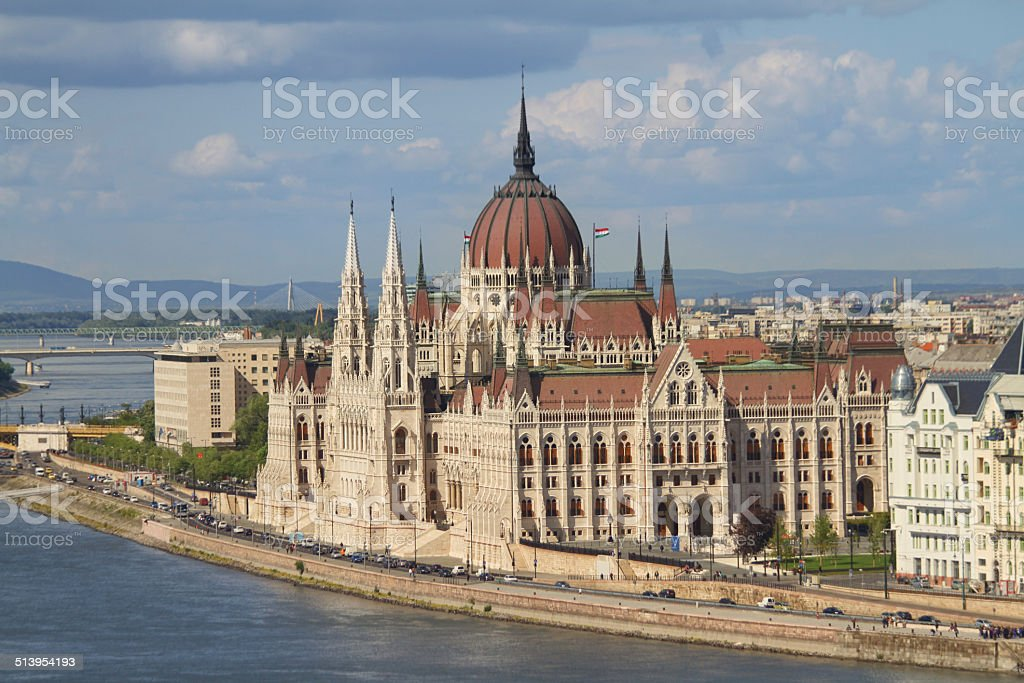 The Hungarian Parliament, Budapest, Hungary. stock photo