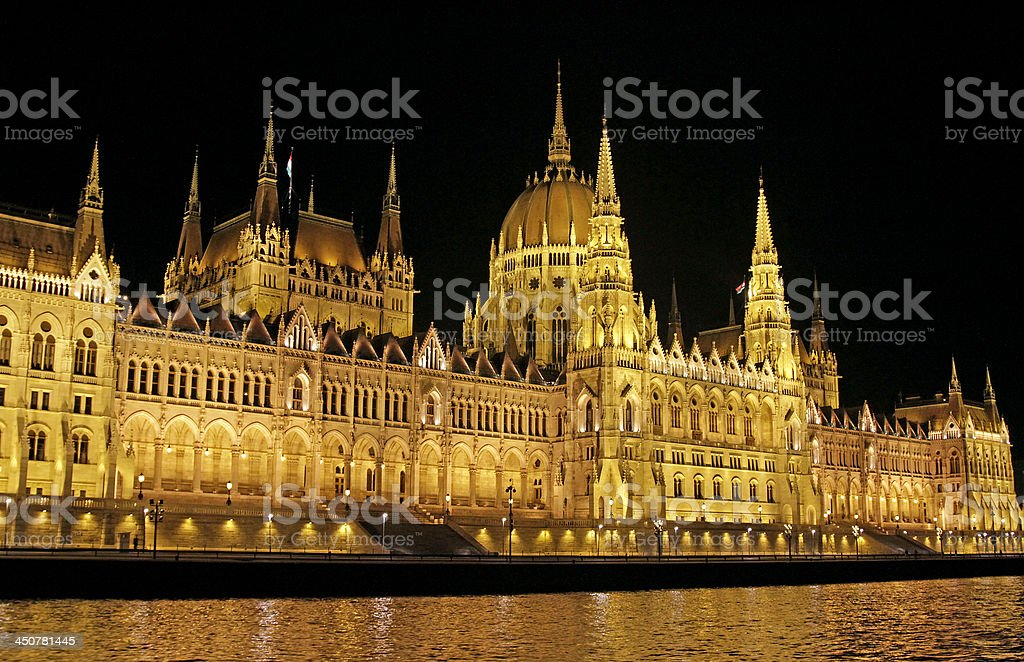The Hungarian Parliament royalty-free stock photo