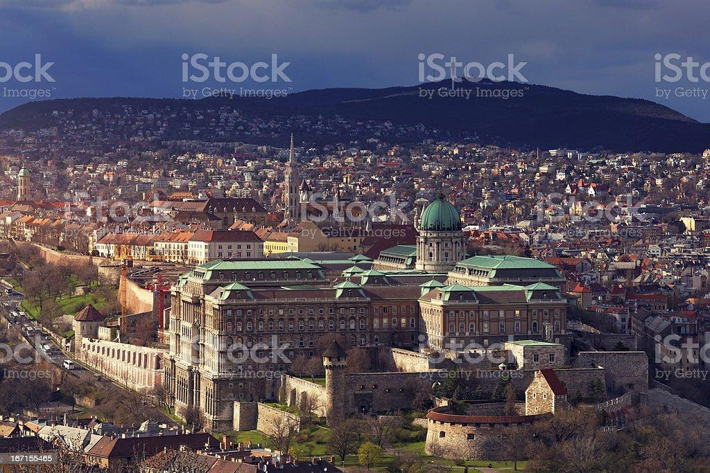 The Hungarian Royal Palace royalty-free stock photo