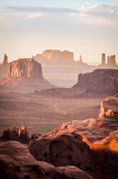 The Hunt's Mesa, Monument Valley stock photo
