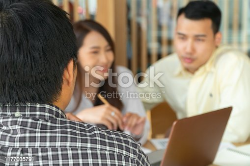938640610 istock photo The husband and wife are discussing financial service providers. For investment in the family business. The concept of providing professional financial advice from experts 1177035791