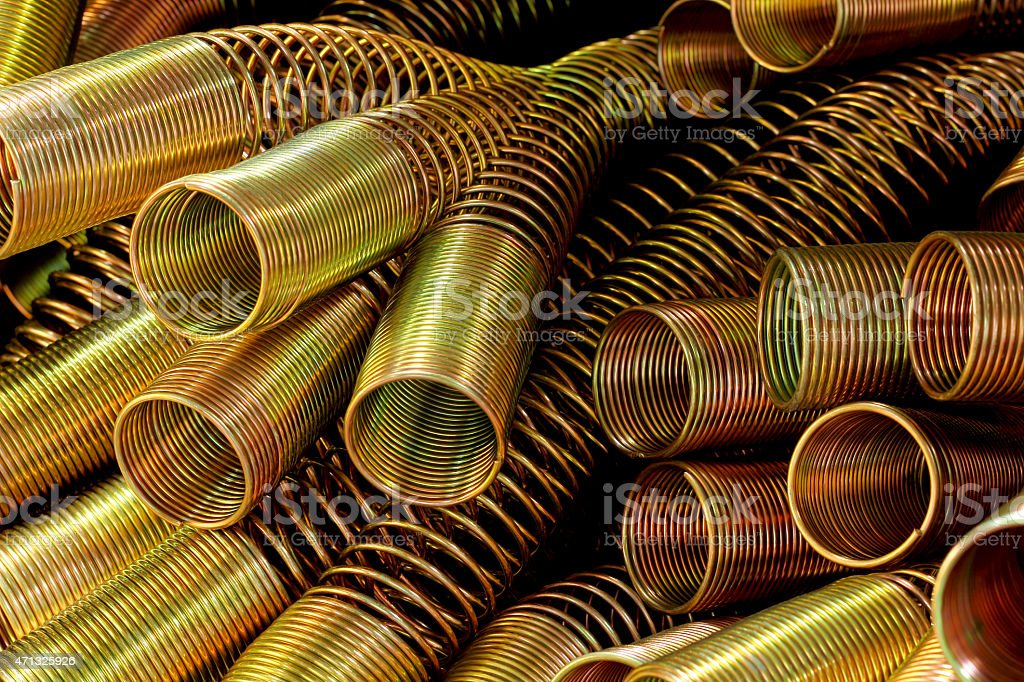 The hydraulic spring. stock photo