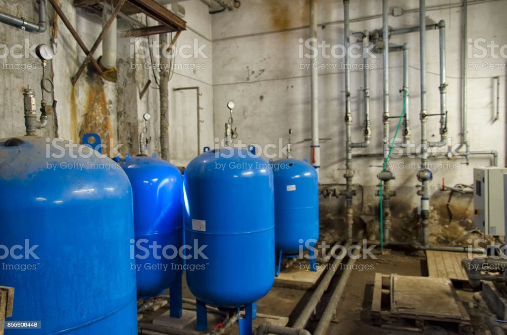 The hydraulic system in a residential building stock photo