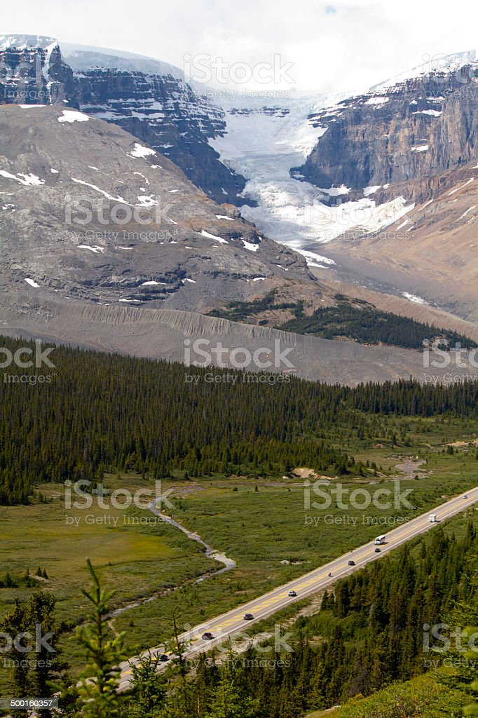 The Icefields Parkway stock photo