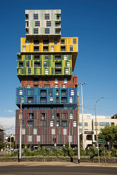 the icon, st kilda - lego house stock photos and pictures
