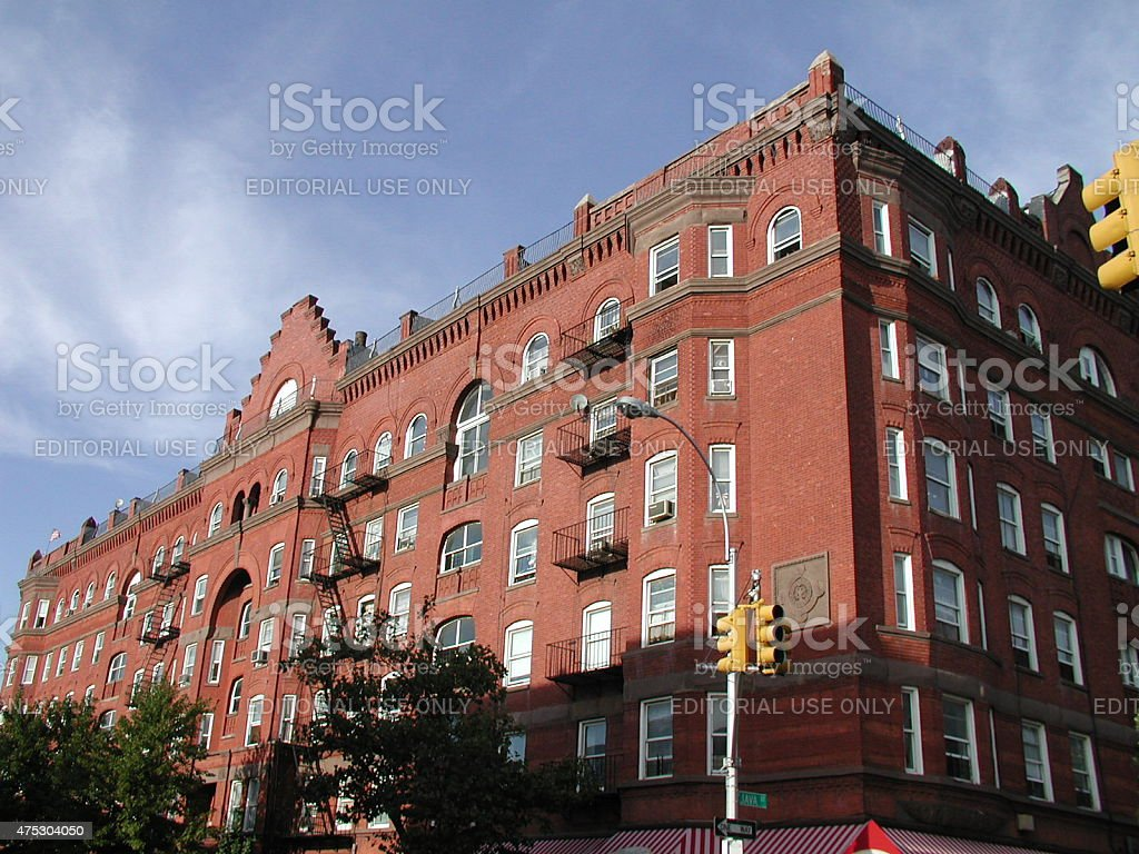 The iconic Astral Apartment building in Greenpoint Brooklyn 2003 stock photo