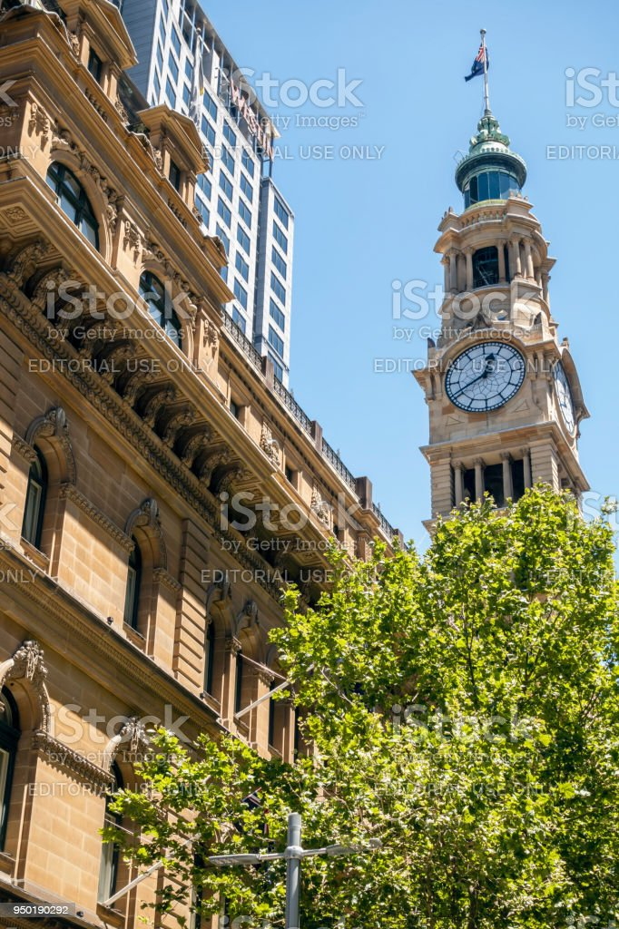 The Iconic Clock Tower of the General Post Office (GPO) stock photo
