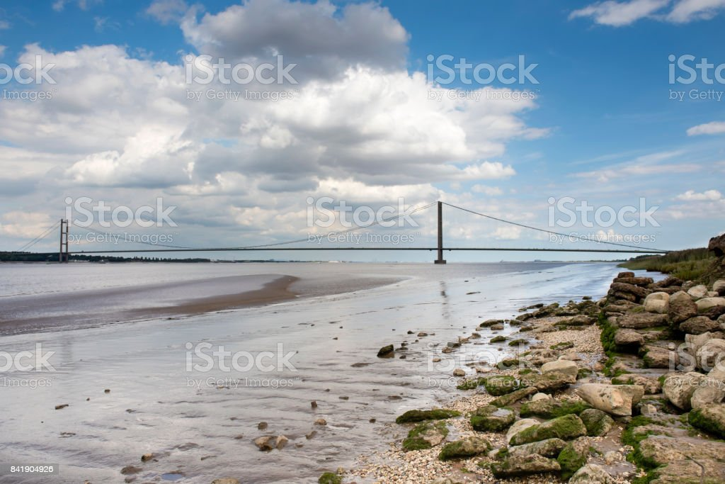 The iconic Humber Bridge stock photo