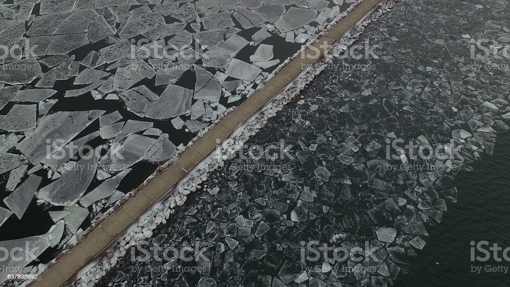 The Icy Divide stock photo