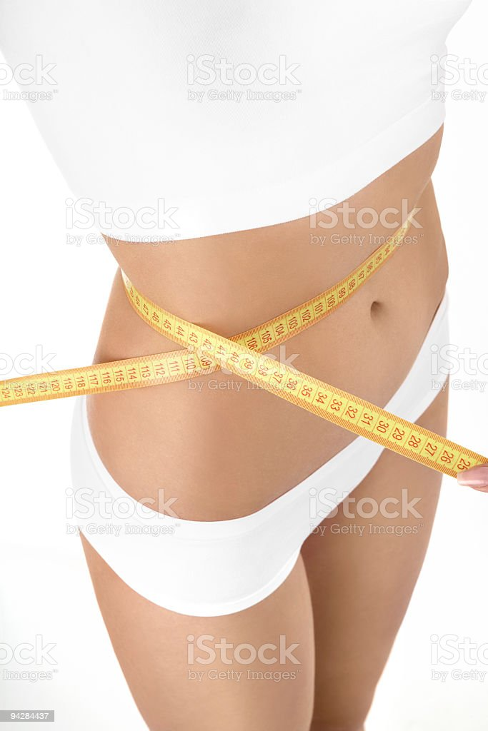 The ideal size of a waist royalty-free stock photo