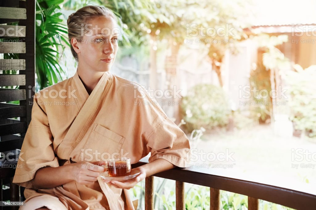 The ideal spot for a day of serenity stock photo