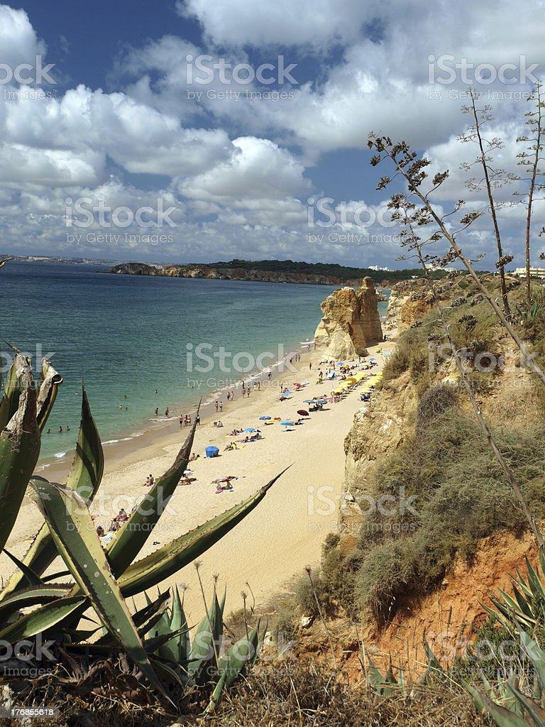 the idyllic Praia de Rocha royalty-free stock photo
