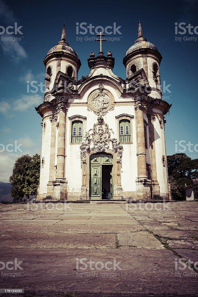 the Igreja  Sao Francisco de Assis ouro preto in  brazil stock photo