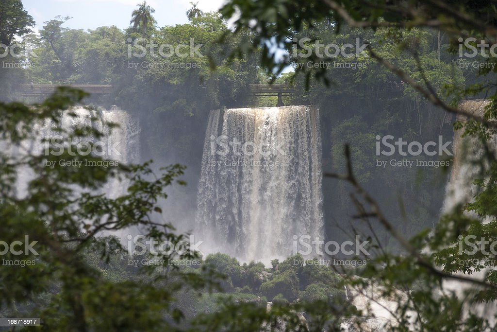 The Iguacu falls in Argentina Brazil royalty-free stock photo