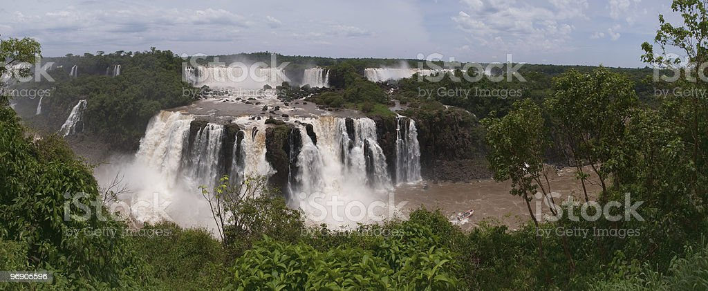 The Iguacu Falls royalty-free stock photo