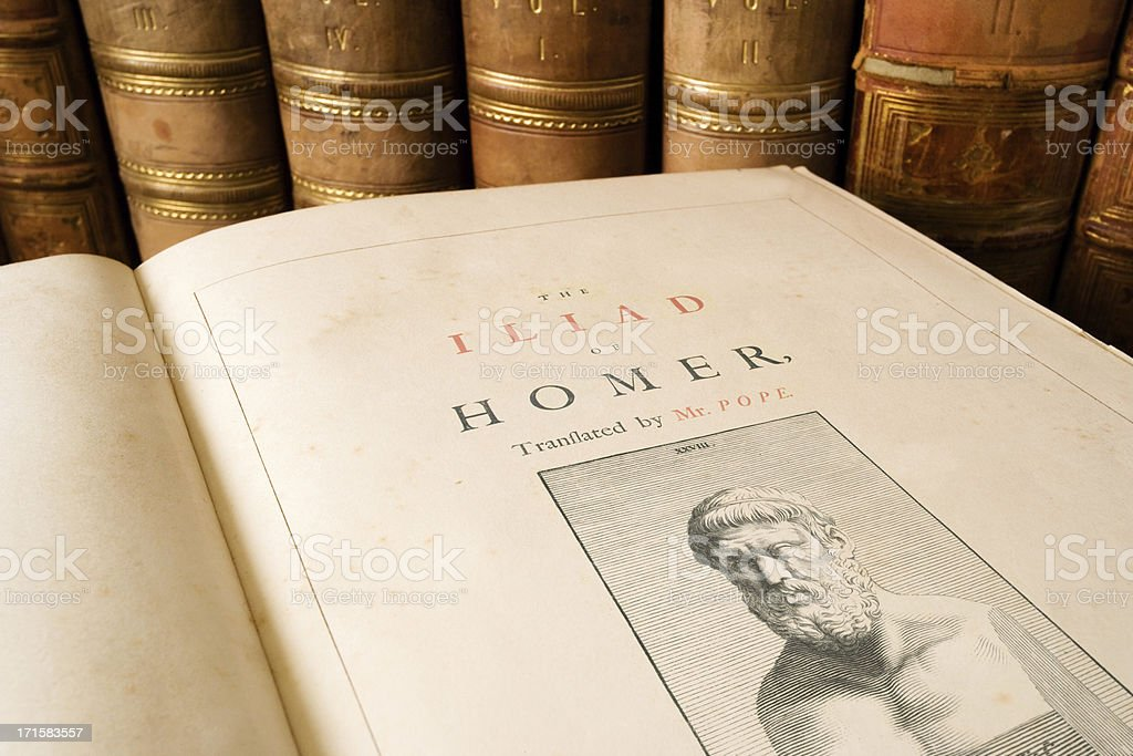 The Iliad - Homer stock photo
