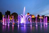 istock The illuminated fountain at night 499912835