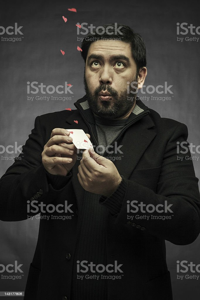 The illusionist stock photo