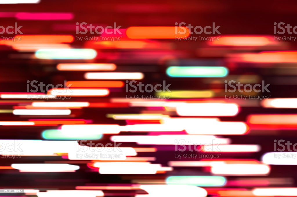 The image is a line of moving light. stock photo