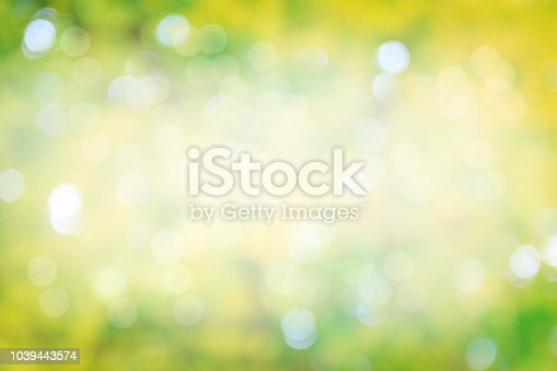 524700656 istock photo The image is soft yellow green and beautiful bokeh sunshine. 1039443574
