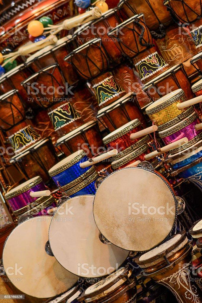 The image of ethnic Turkish drum darbuka stock photo
