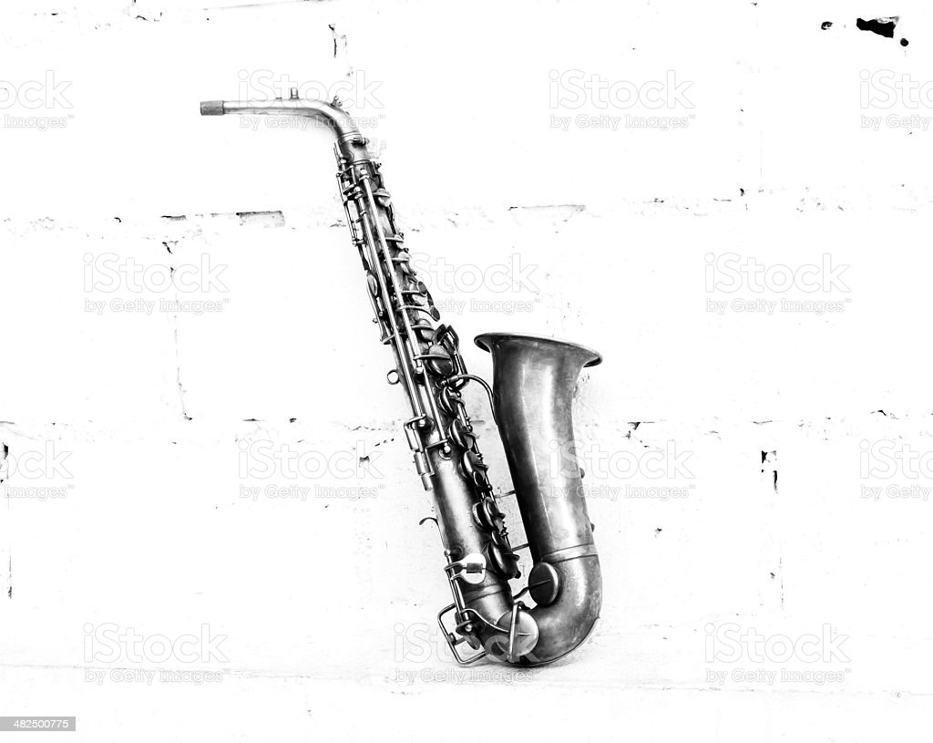 The image of saxophone stock photo