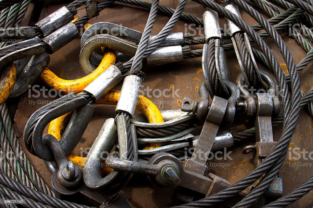 The image of Wire rope. stock photo
