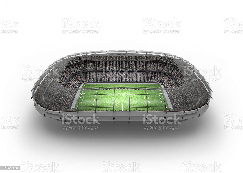 The Imaginary Soccer Stadium, 3d rendering stock photo