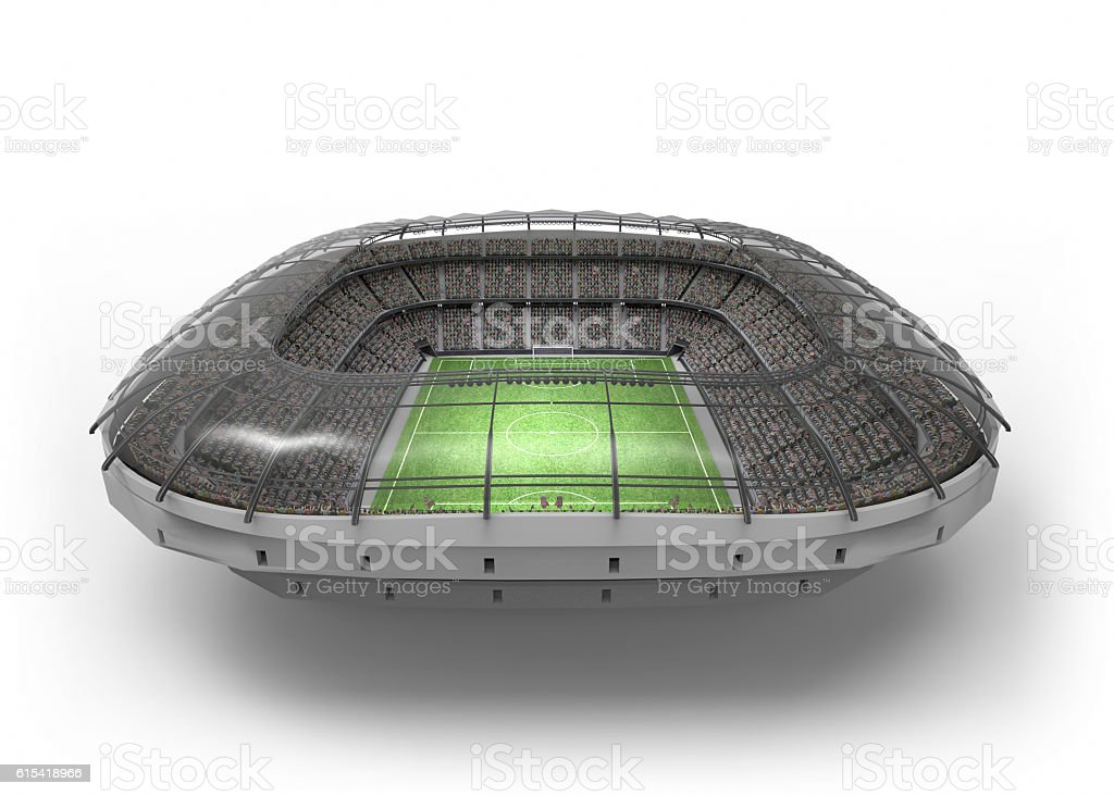 The Imaginary Soccer Stadium, 3d rendering stock photo