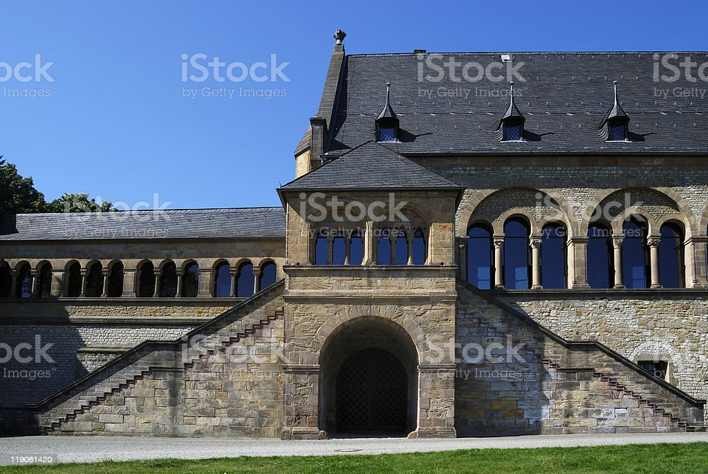The Imperial Palace (Kaiserpfalz) in Goslar stock photo