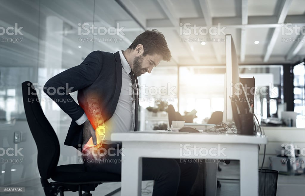 The importance of good posture stock photo