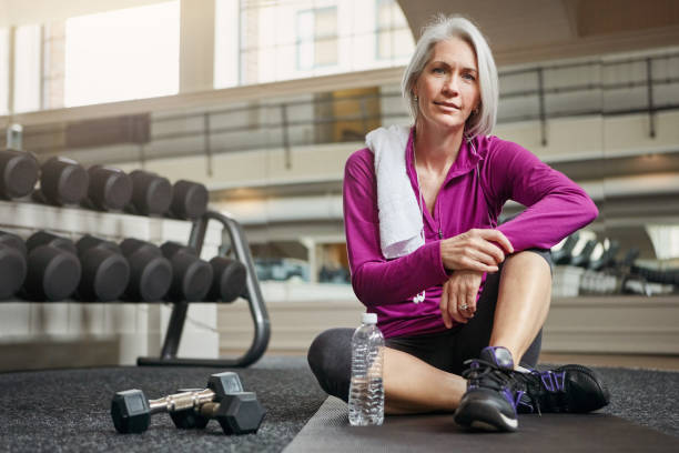 The importance of health increases with age stock photo