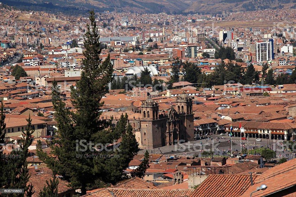The Inca capital city of Cusco stock photo